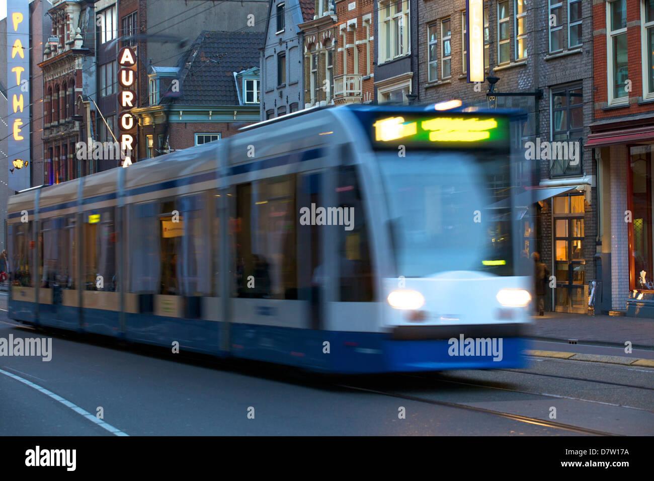 Tram, Amsterdam, Netherlands - Stock Image