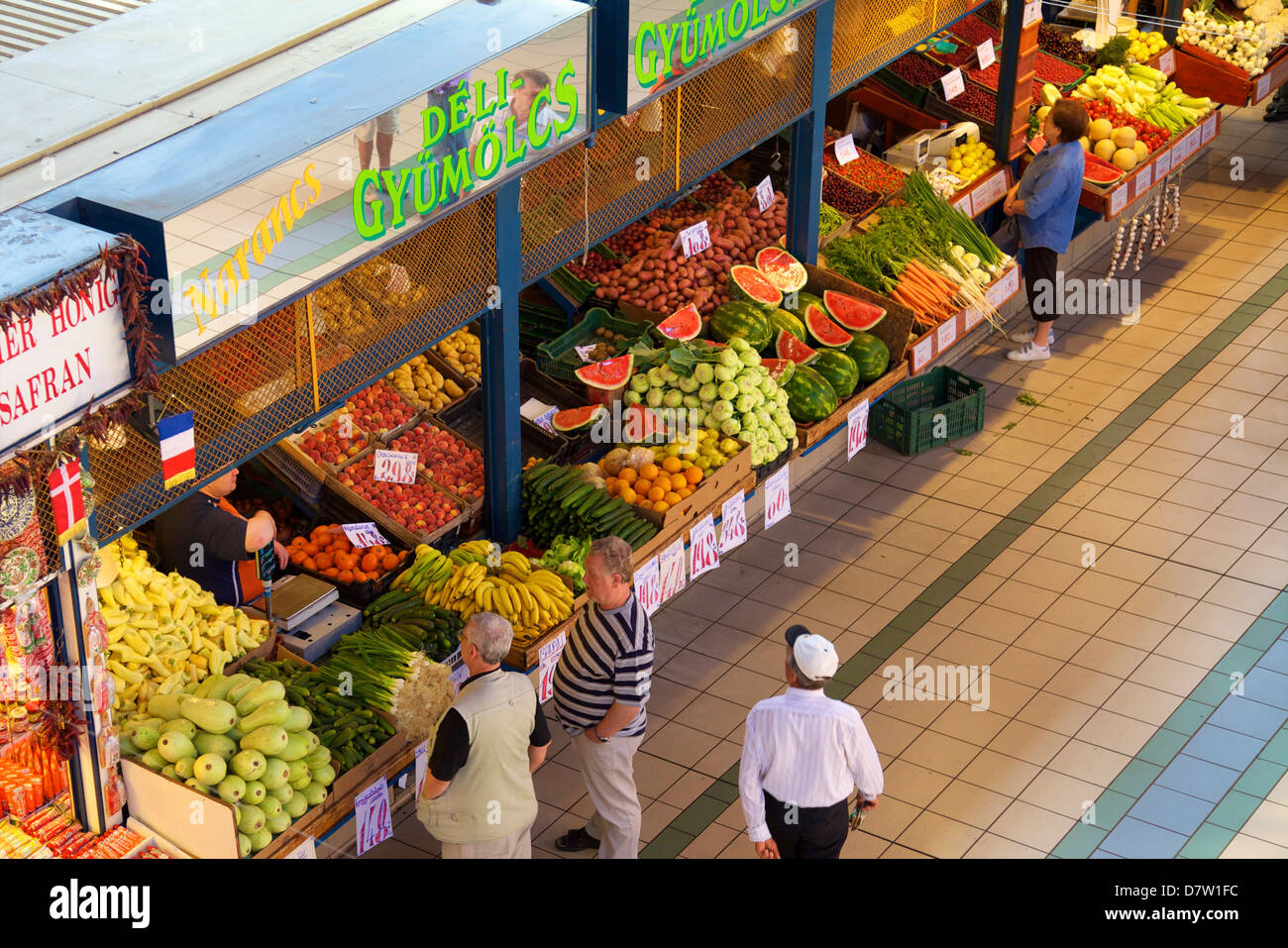 Central Market Hall, Budapest, Hungary - Stock Image