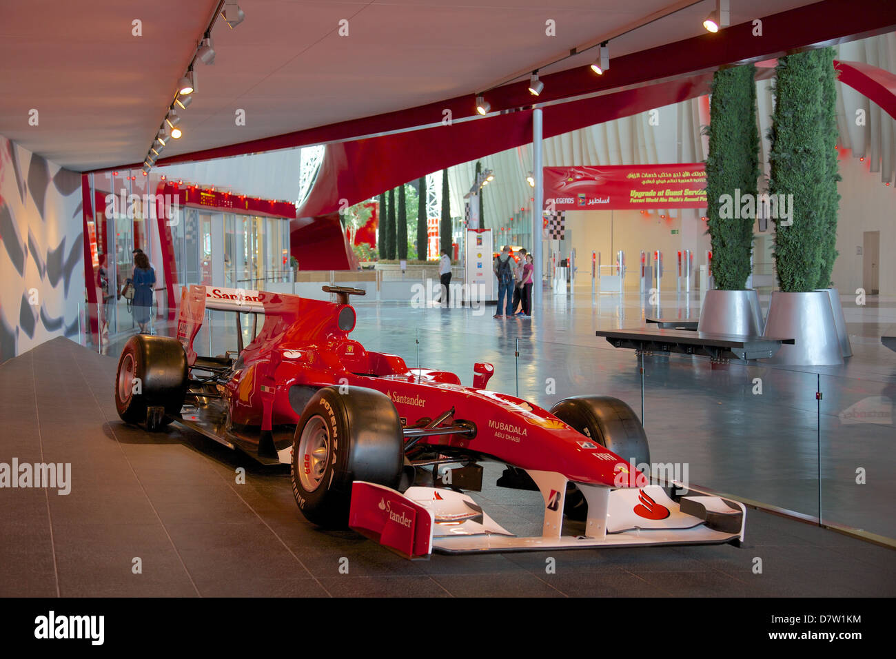 Formula 1 Racing Car, Ferrari World, Yas Island, Abu Dhabi, United Arab Emirates, Middle East Stock Photo
