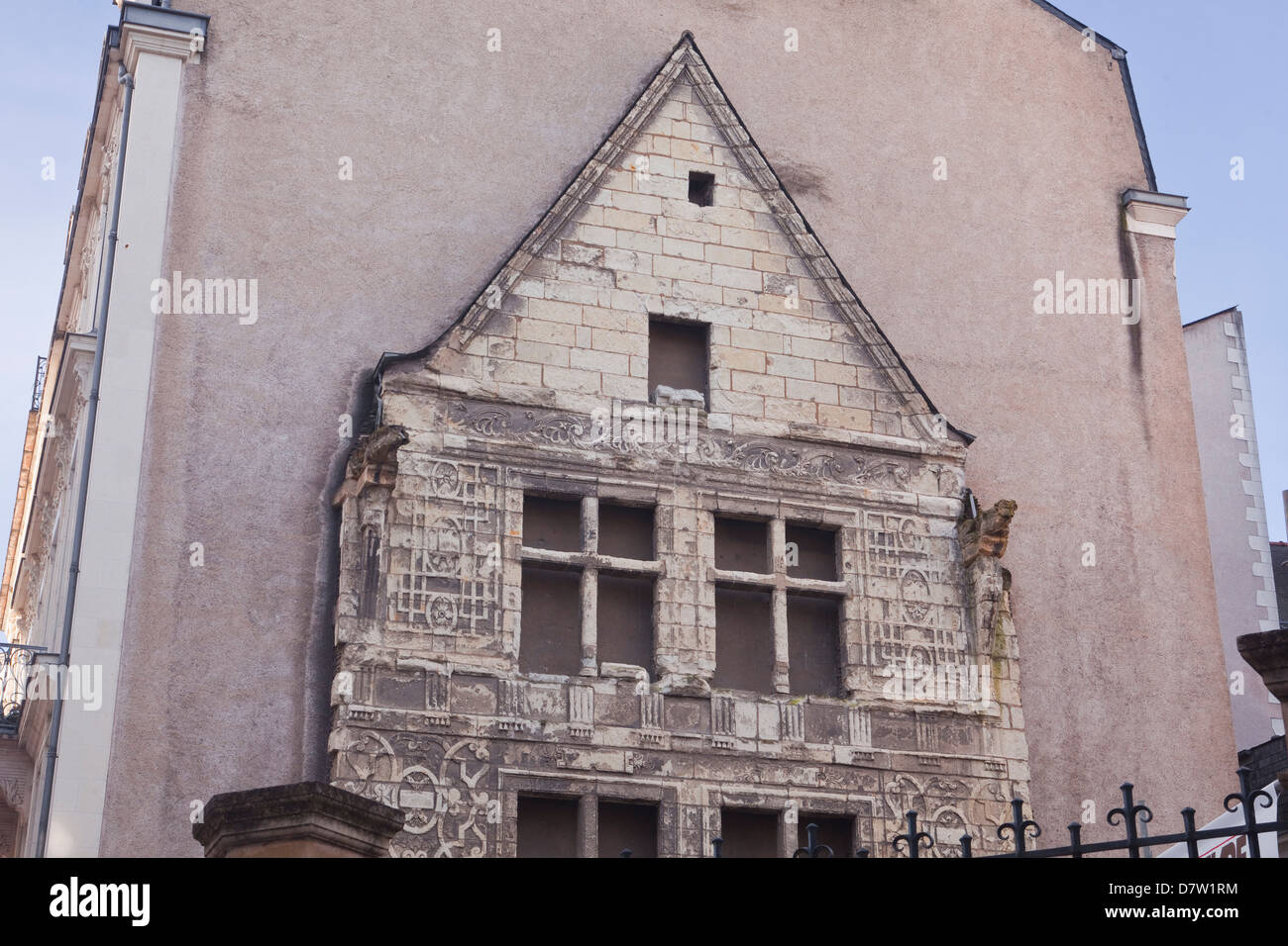 Part of the Logis Pince in Angers, Maine-et-Loire, France - Stock Image