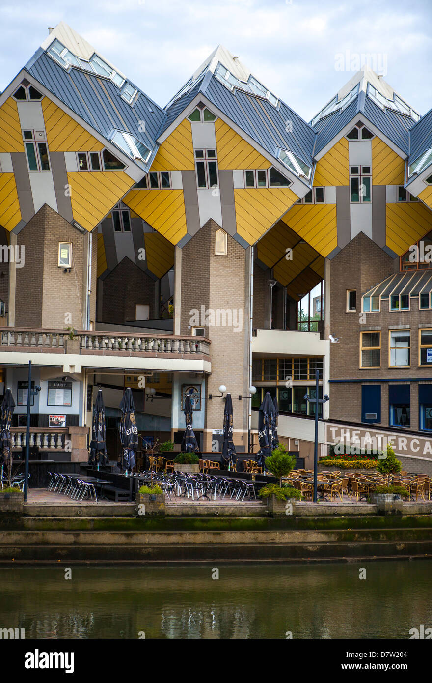 Cubic Houses (Kubuswoningen) designed by Piet Blom, Rotterdam, South Holland, The Netherlands, (Holland) Stock Photo