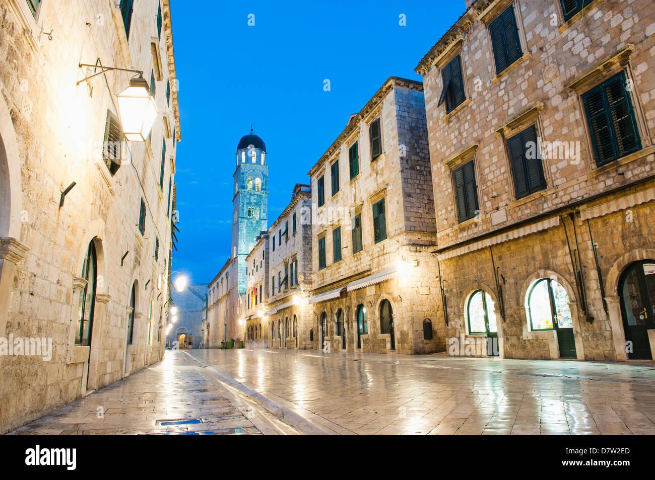 Dubrovnik Old Town, Franciscan Monastery on Stradun, UNESCO World Heritage Site, Dubrovnik, Dalmatia, Croatia - Stock Image