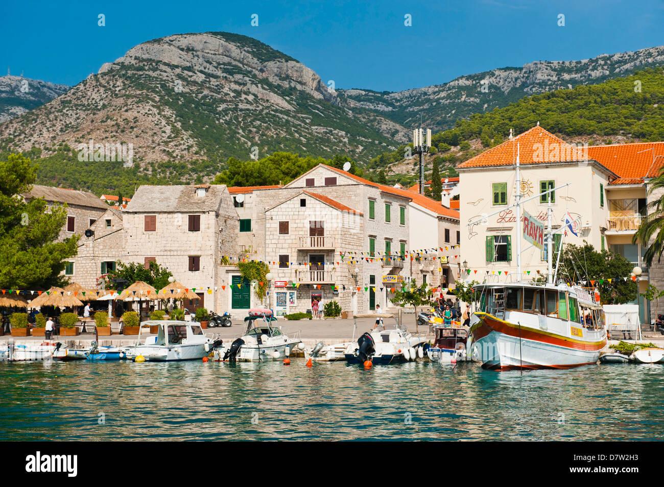 Bol Town, Brac Island, Dalmatian Coast, Adriatic, Croatia - Stock Image