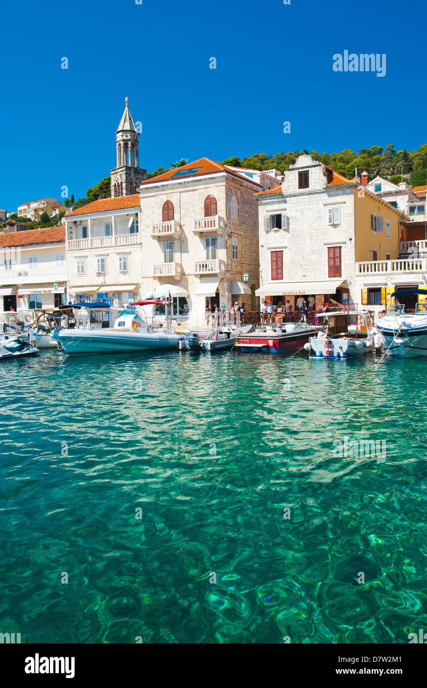Adriatic Sea, Hvar town centre, Hvar Island, Dalmatian Coast, Croatia - Stock Image