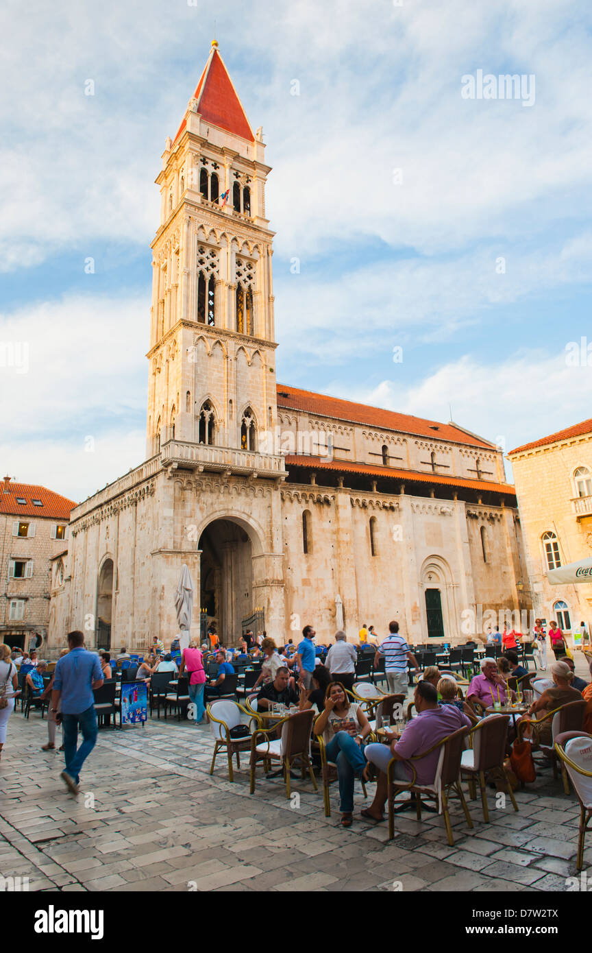 Cathedral of St. Lawrence (Katedrala Sv. Lovre), Trogir, UNESCO World Heritage Site, Dalmatian Coast, Croatia - Stock Image