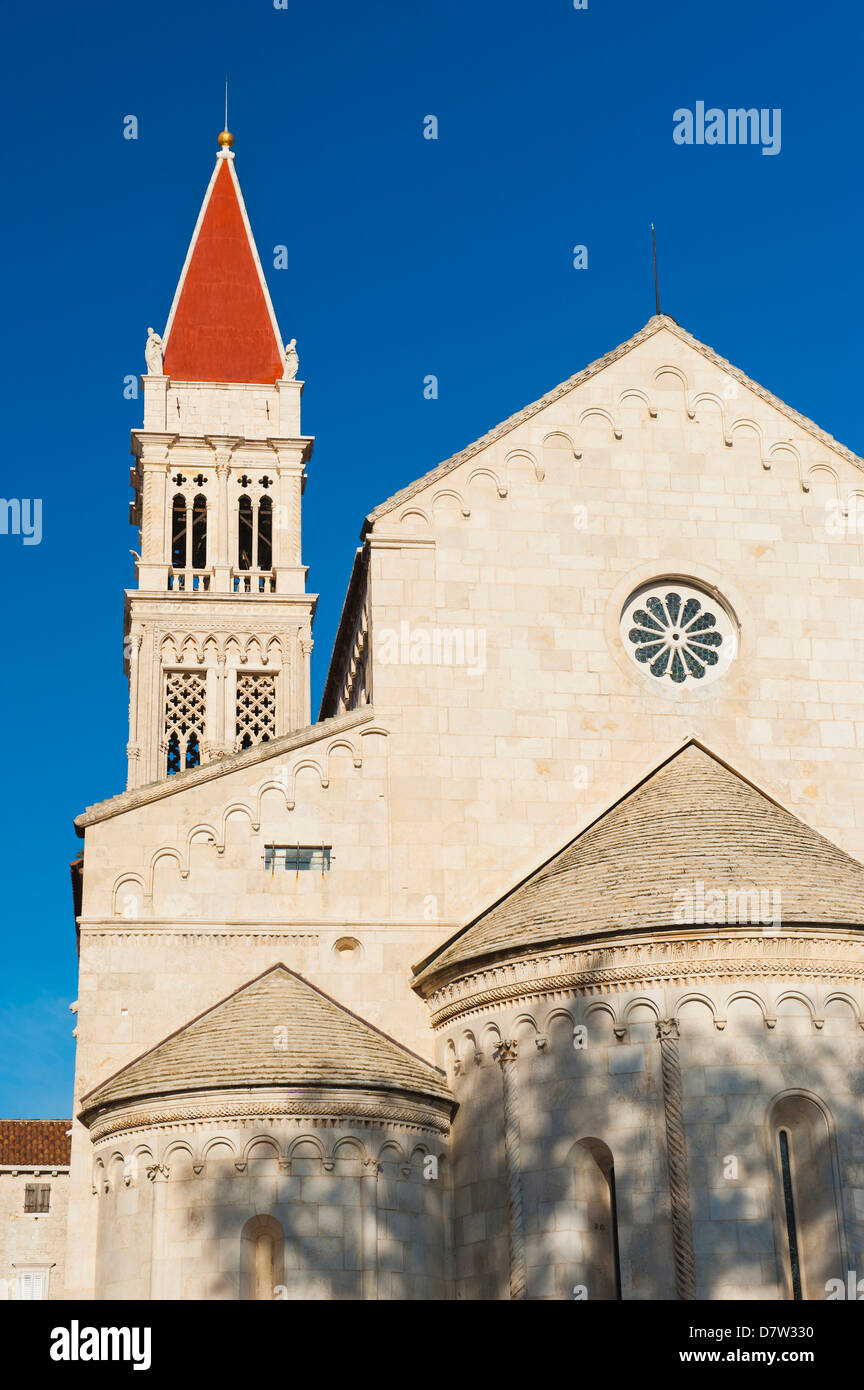 Cathedral of St. Lawrence, Trogir, UNESCO World Heritage Site, Dalmatian Coast, Croatia - Stock Image