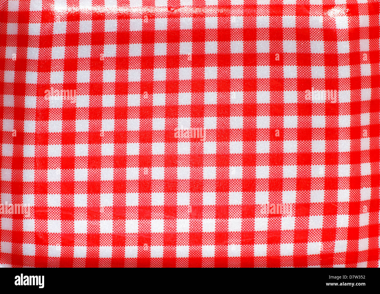 Red checked textile. - Stock Image