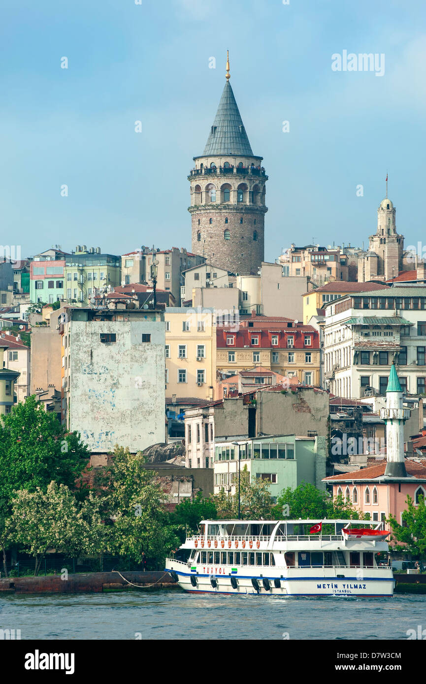 Galata Tower, Istanbul, Turkey - Stock Image