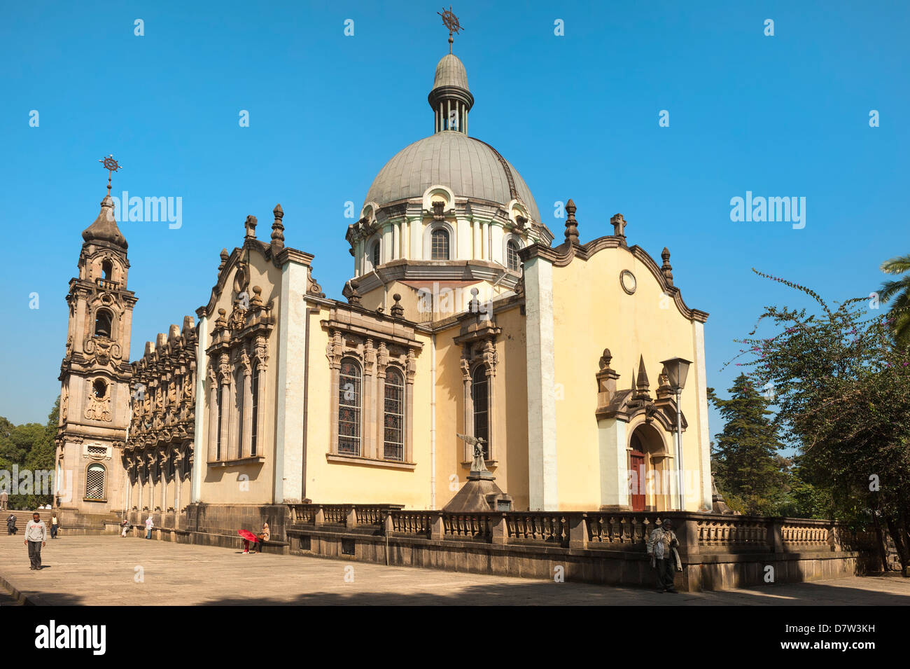 Holy Trinity Cathedral, (Kiddist Selassie), Addis Ababa, Ethiopia - Stock Image