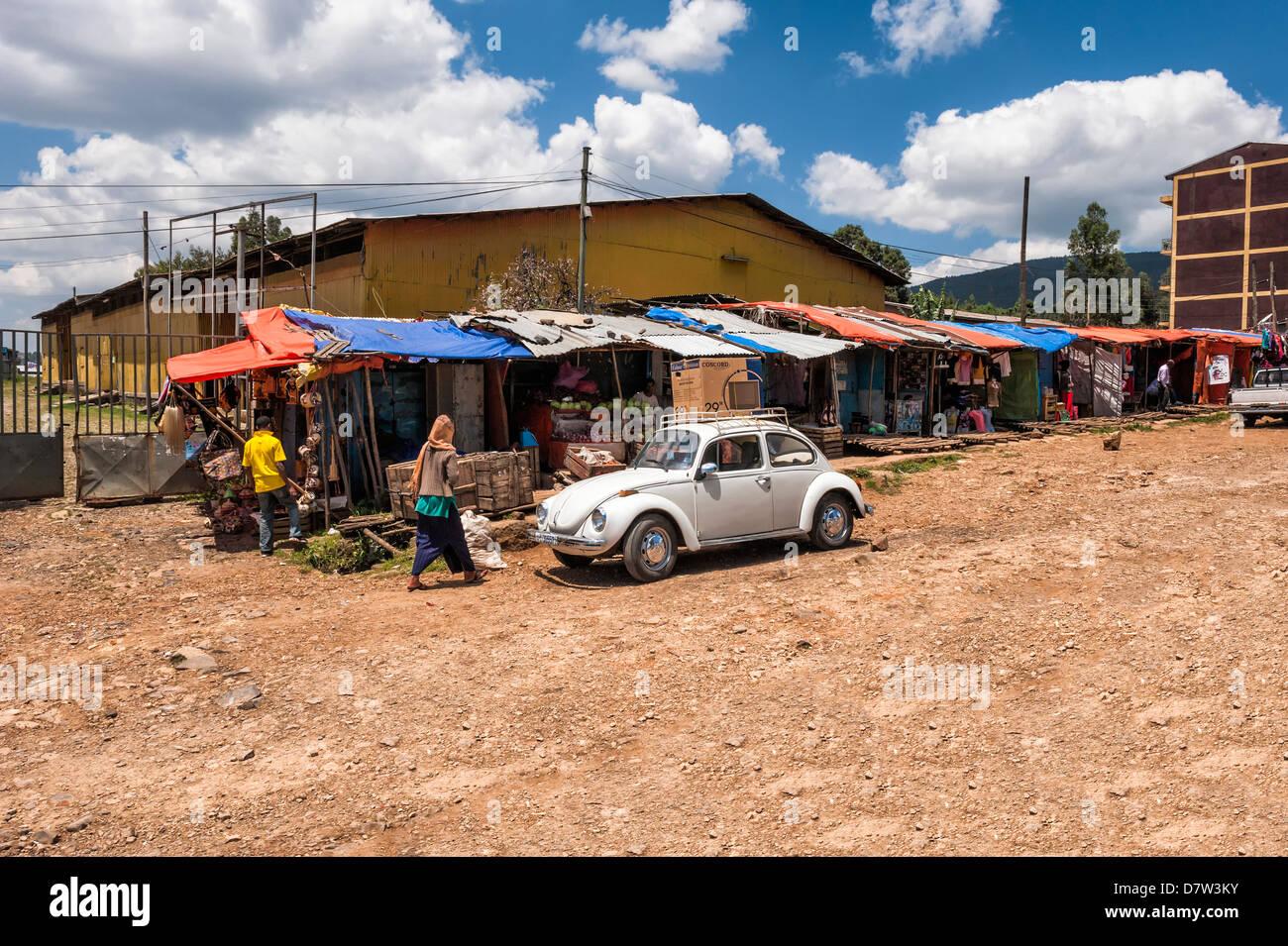 Street scene, Addis Ababa, Ethiopia - Stock Image
