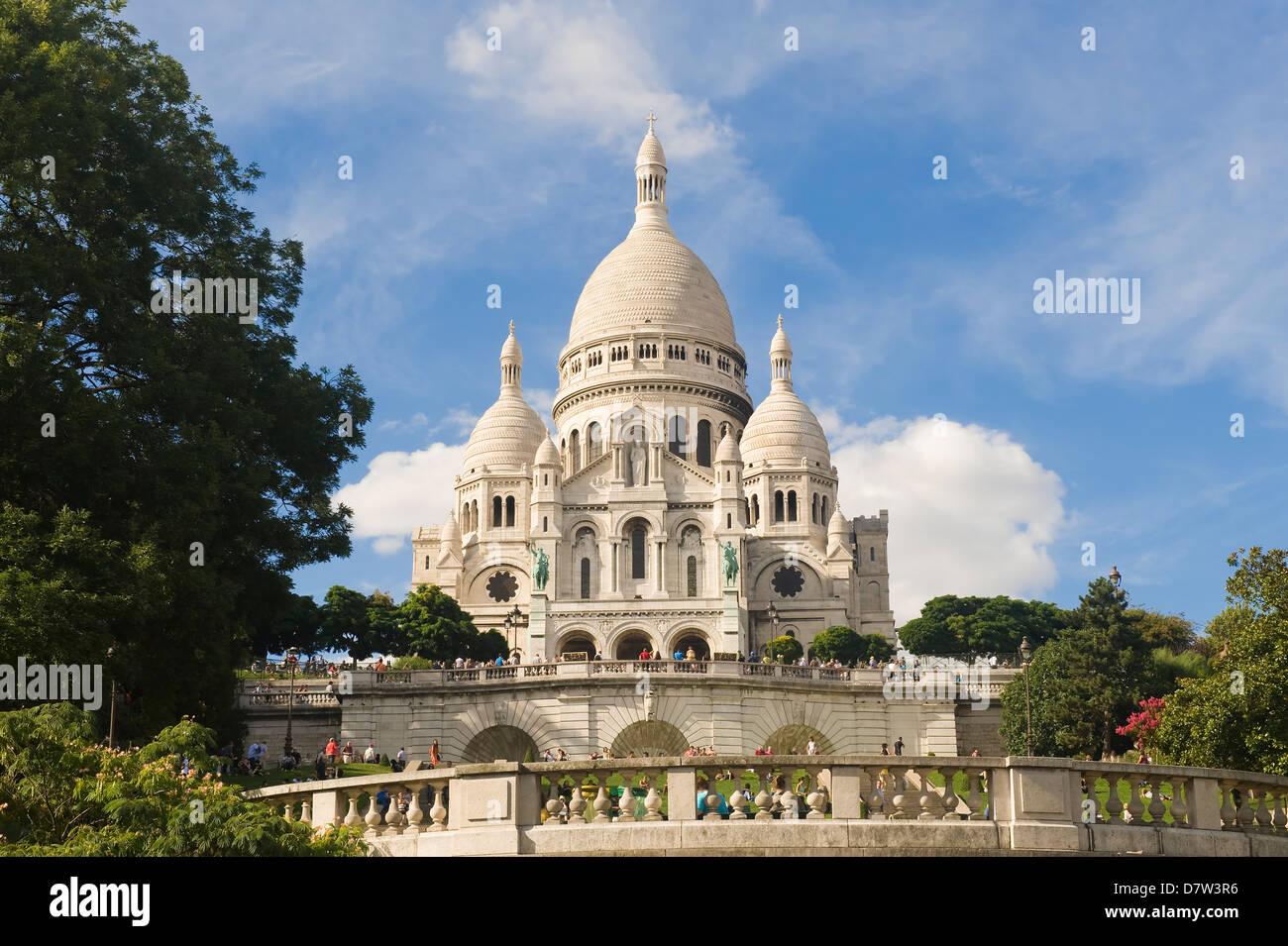 Basilica Sacre Coeur, Montmartre, Paris, France - Stock Image