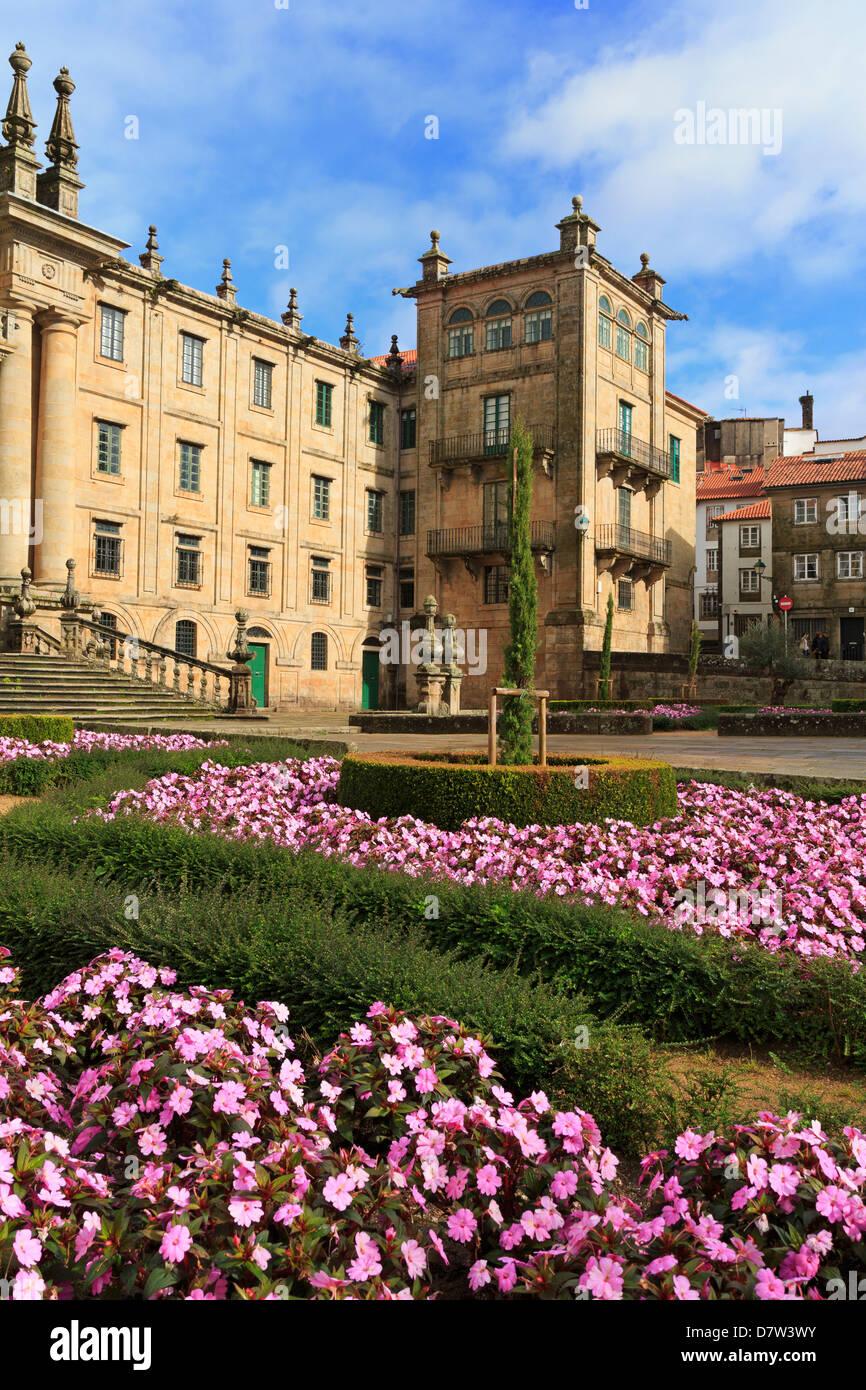 Mosteiro de San Martino Pinario in Old Town, Santiago de Compostela, Galicia, Spain - Stock Image
