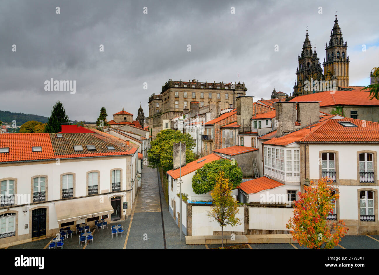 Old Town, Santiago de Compostela, UNESCO World Heritage Site, Galicia, Spain - Stock Image