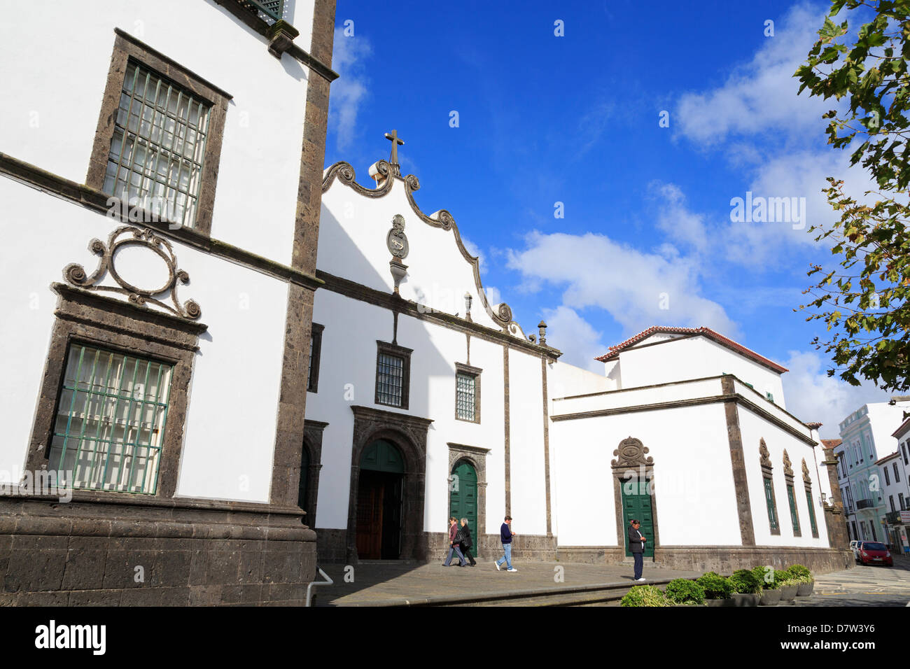 Convento da Esperanca, Ponta Delgada City, Sao Miguel Island, Azores, Portugal - Stock Image