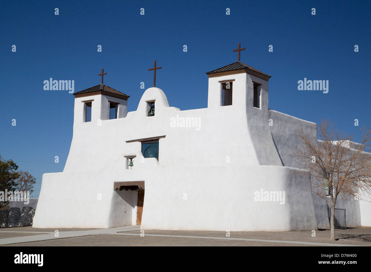 St. Augustine Church, Isleta Pueblo, New Mexico, USA - Stock Image