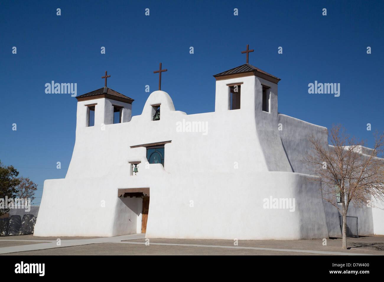 St. Augustine Church, Isleta Pueblo, New Mexico, USA Stock Photo