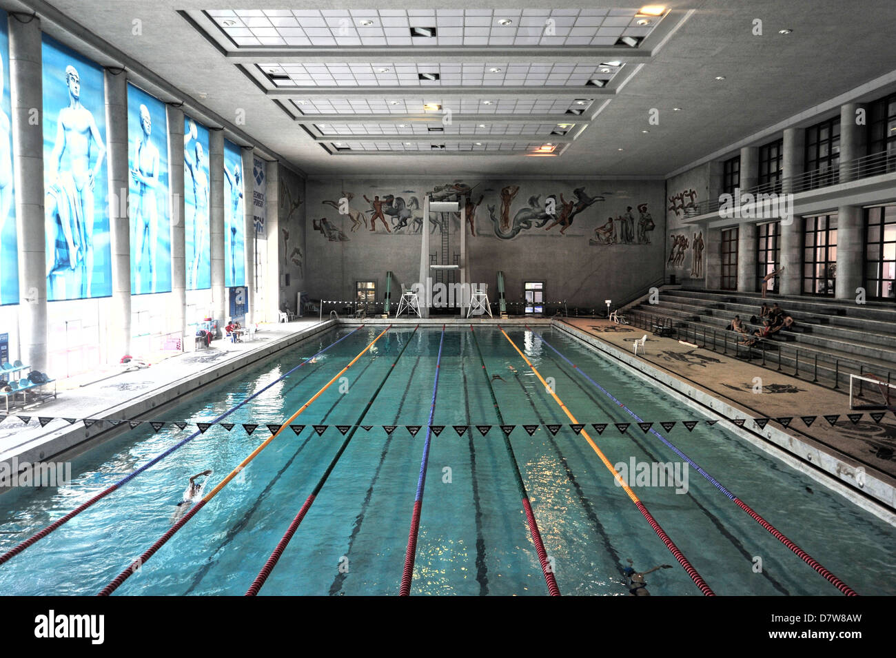 The covered swimming pool built by Mussolini during fascism ...