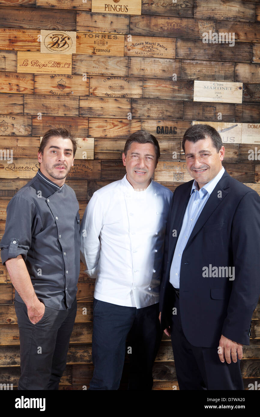 The restaurant El Celler de Can Roca in Girona in 2013 was voted the best restaurant in the world. The Roca brothers - Stock Image