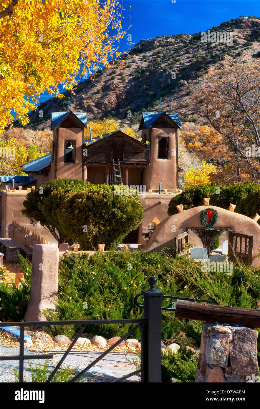 Santuario de Chamayo, a world famous healing site , near Taos New Mexico - Stock Image