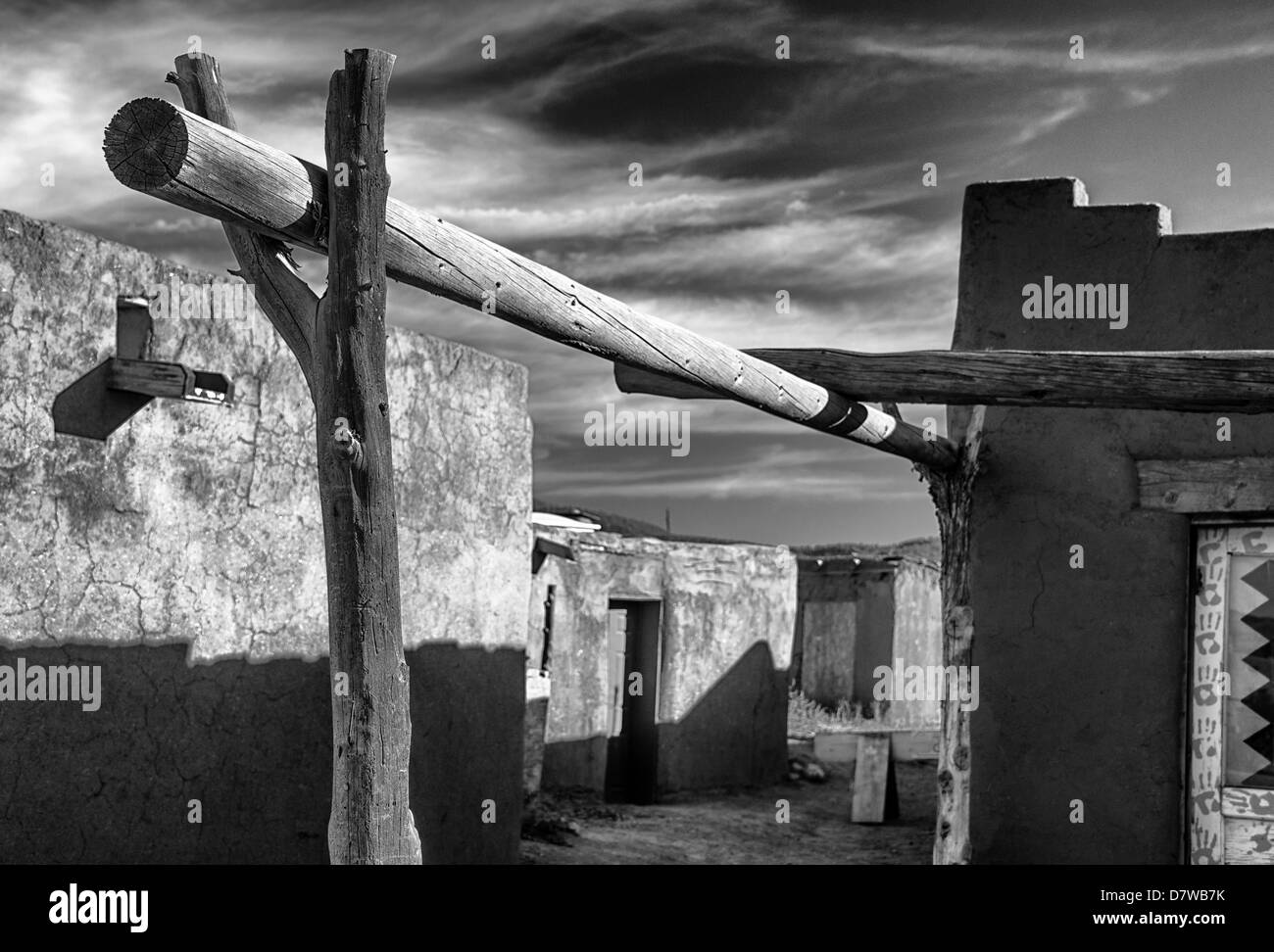 Vegas,  A very large,high resolution file, in the style of Ansel Adams and W.H. Jackson Taos Pueblo in New Mexico - Stock Image