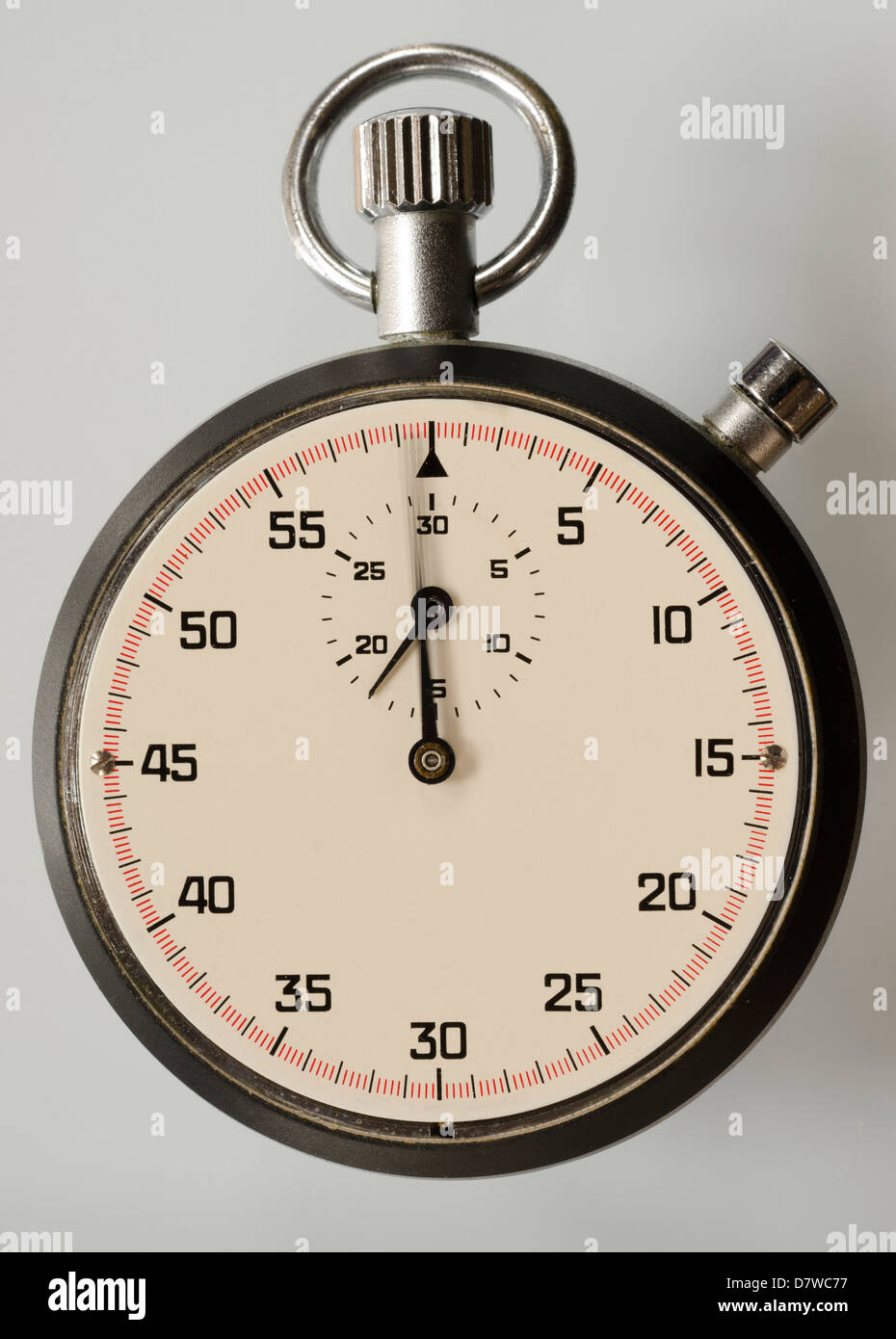close-up of a stopwatch - Stock Image