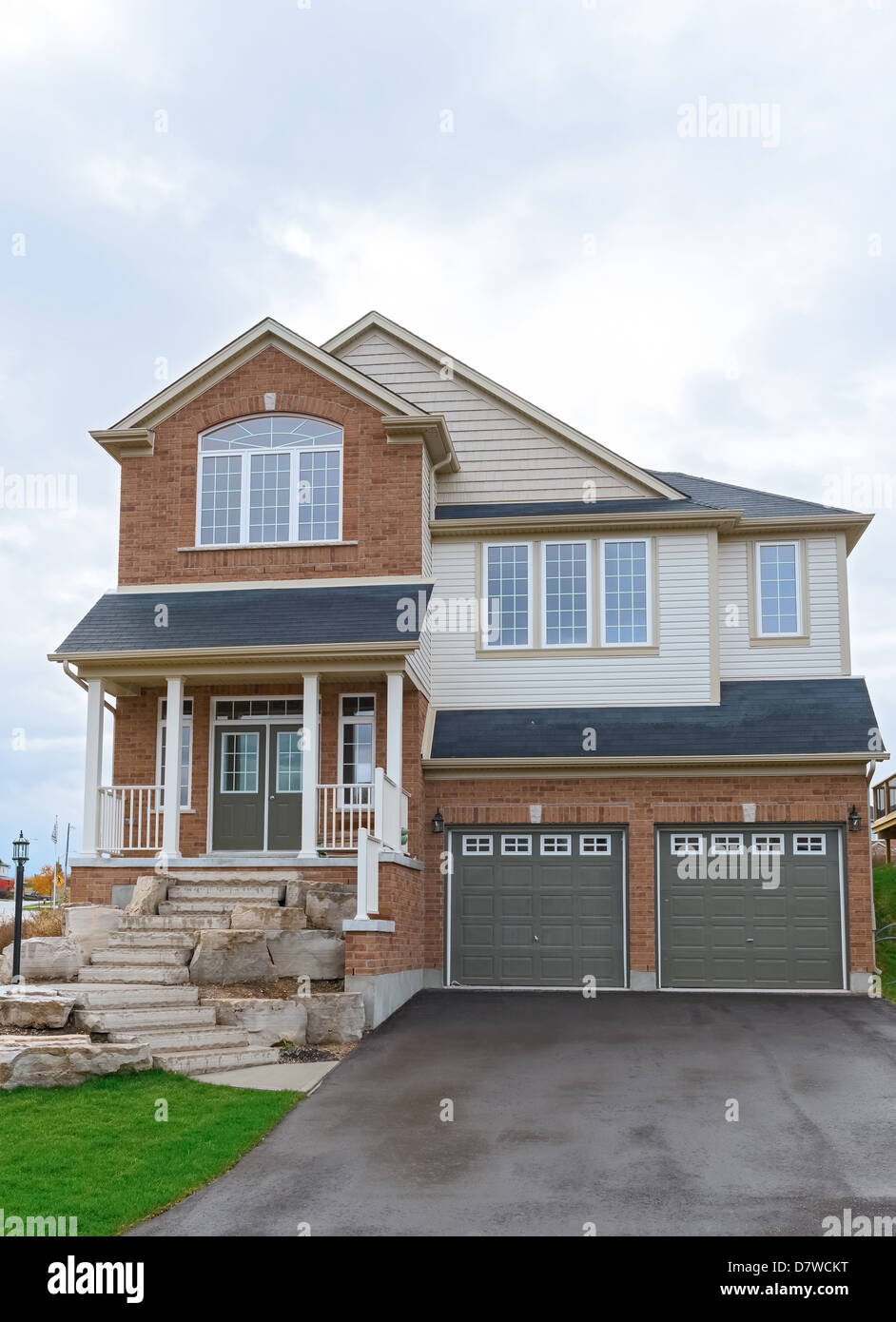 new two story house in canada ontario cambridge new houses subdivision stock image - Two Story Houses Pictures