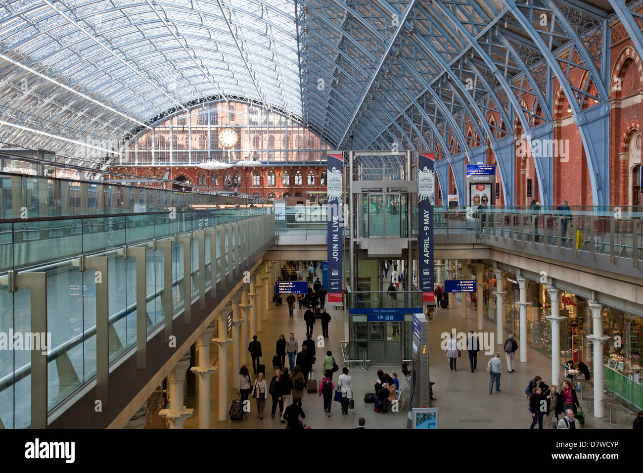 St Pancras International Train Station, London, England - Stock Image