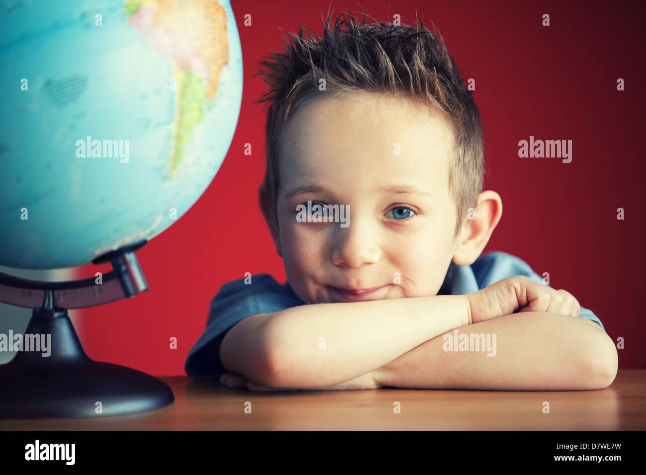 school boy - Stock Image
