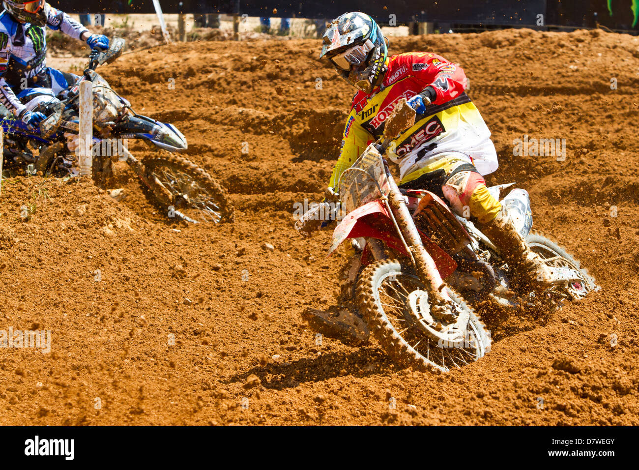 agueda, Portugal, 5th May 2013, World Championship MX1, Italian David philippaerts with a Honda, 8th race 1 and - Stock Image