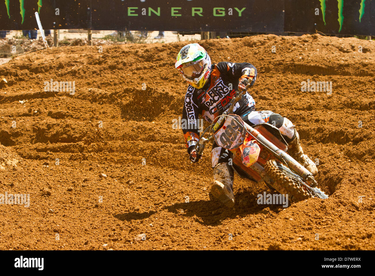 Agueda, Portugal, 5th May 2013, World Championship MX1, Portuguese Rui Goncalves with a KTM, 9th race 1 and 11th in race 2 Stock Photo