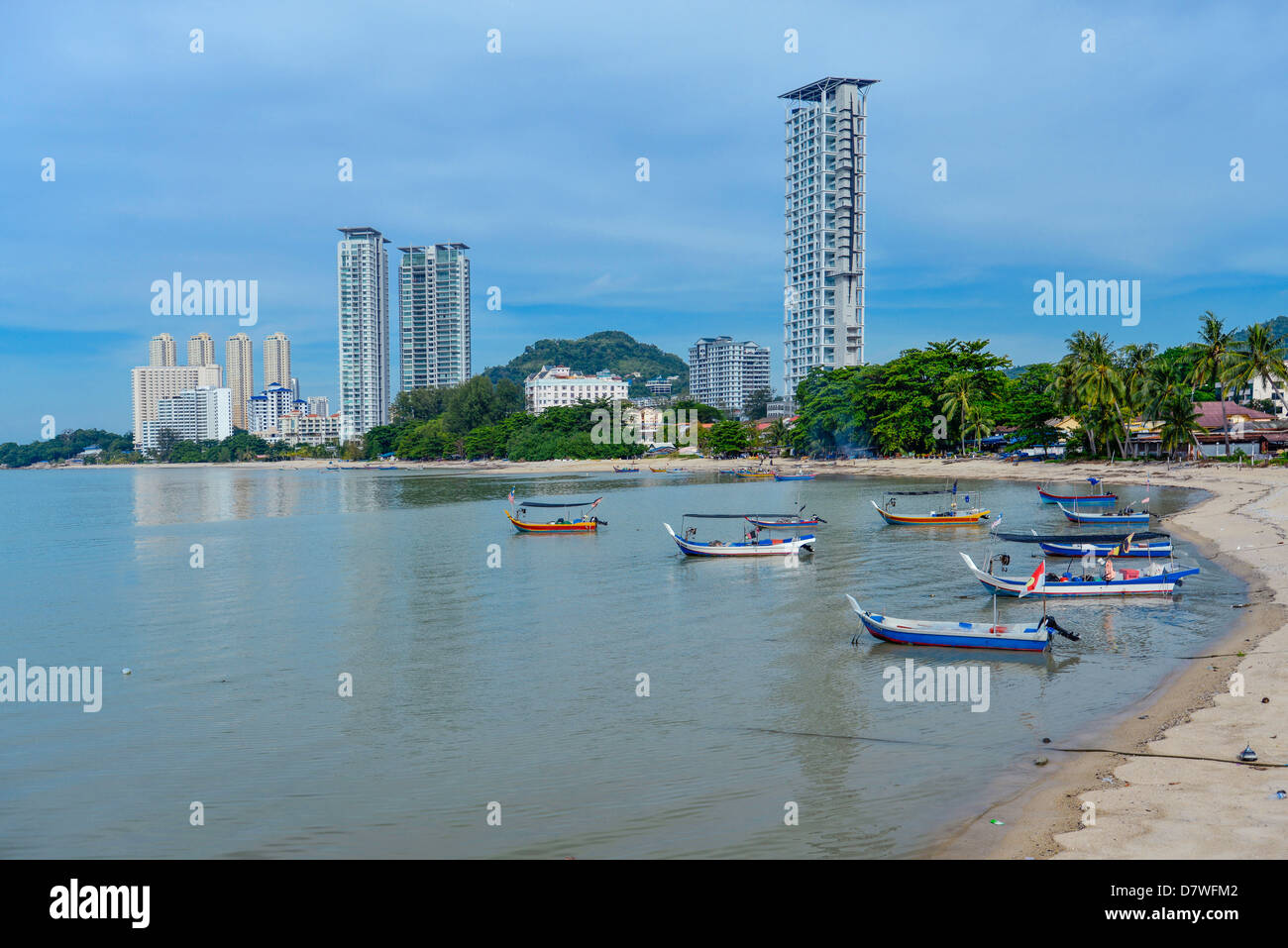ASia Malaysia Penang Georgetown The coastline - Stock Image