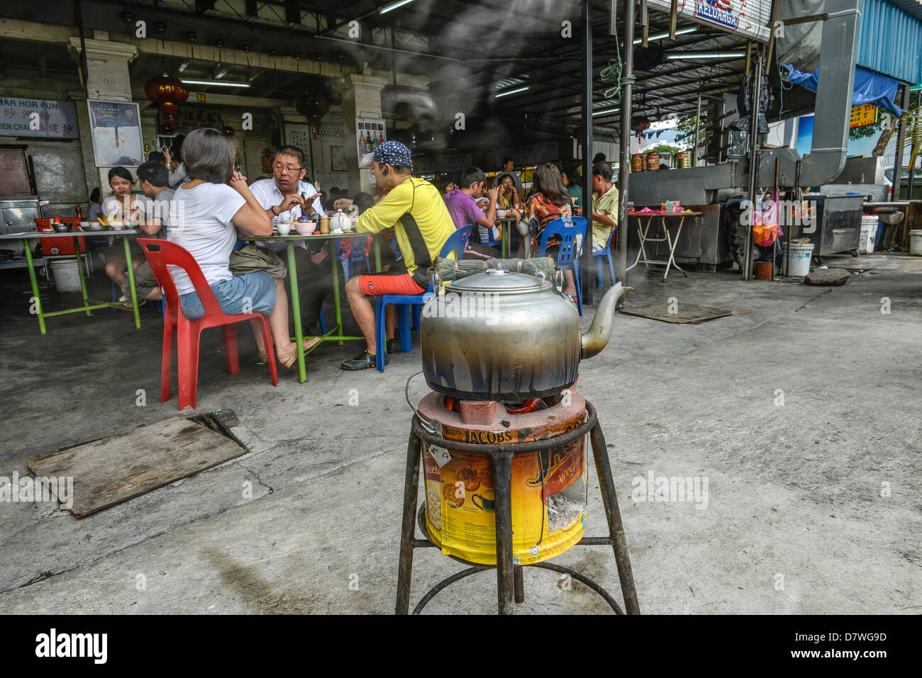 Asia Malaysia Penang Georgetown A tea room - Stock Image