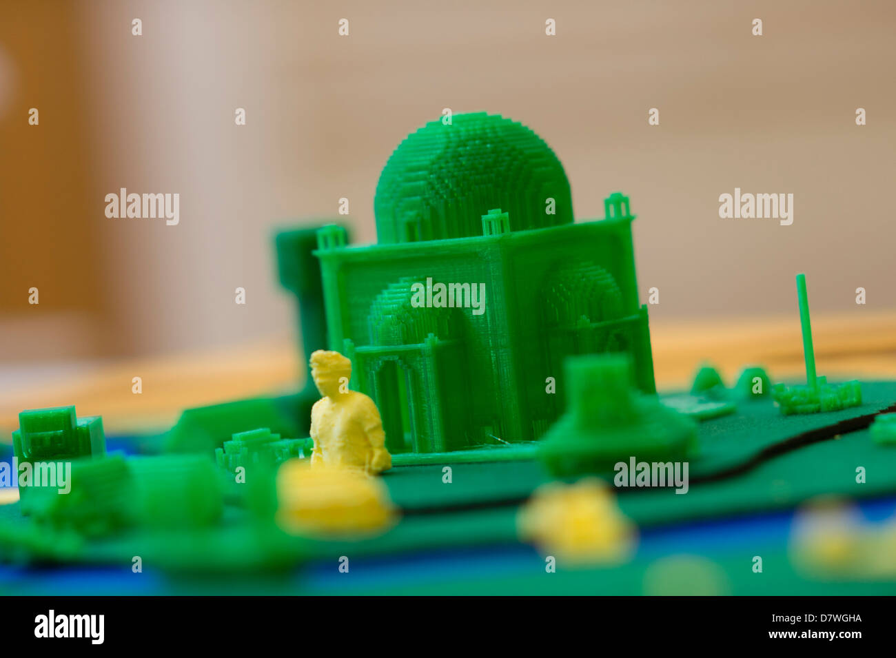 A demonstration of 3D Three dimensional computer printing technology, UK Stock Photo