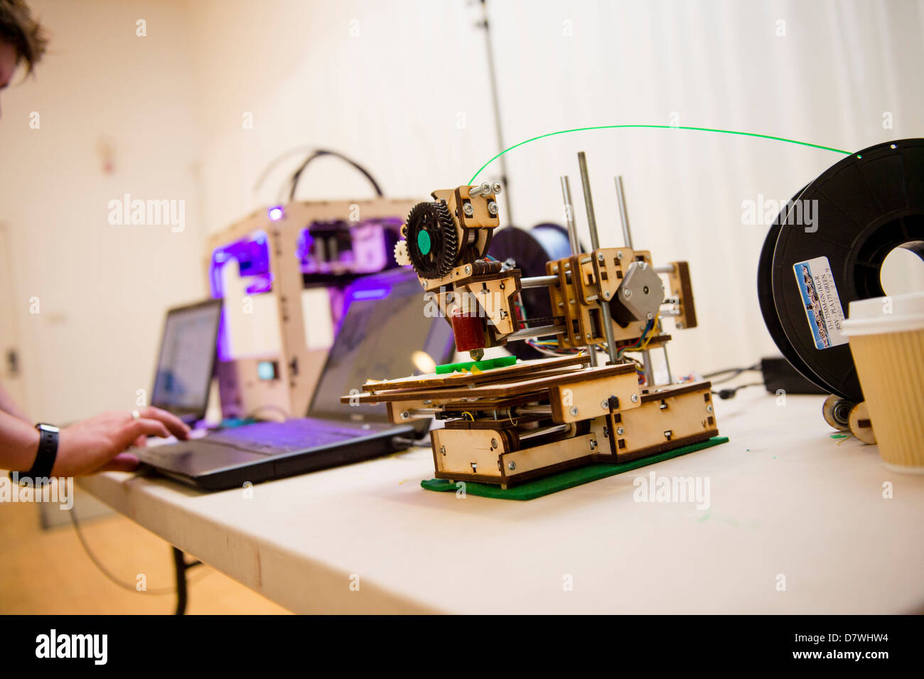 A demonstration of 3D Three dimensional computer printing technology, UK - Stock Image