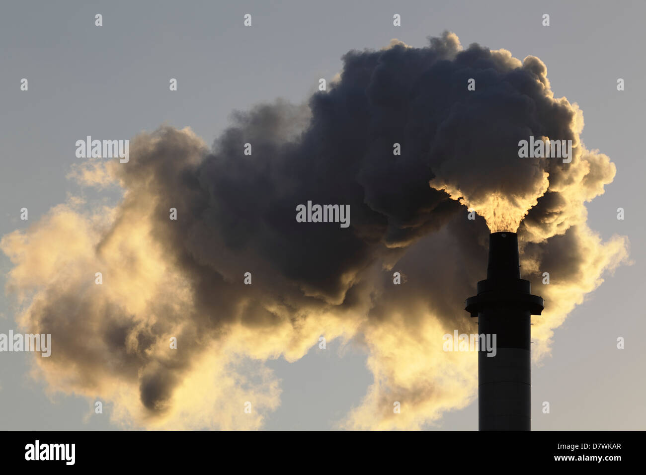 Emissions from a chimney, Scotland UK - Stock Image