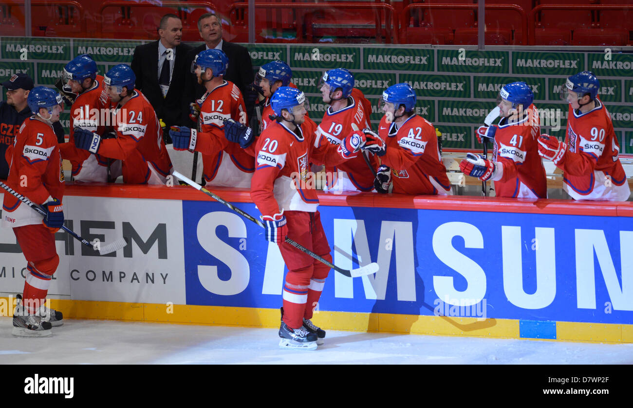 Stockholm, Sweden. 14th May 2013. IIHF World Championships, Ice Hockey, Group A, Czech Republic vs. Norway, May Stock Photo