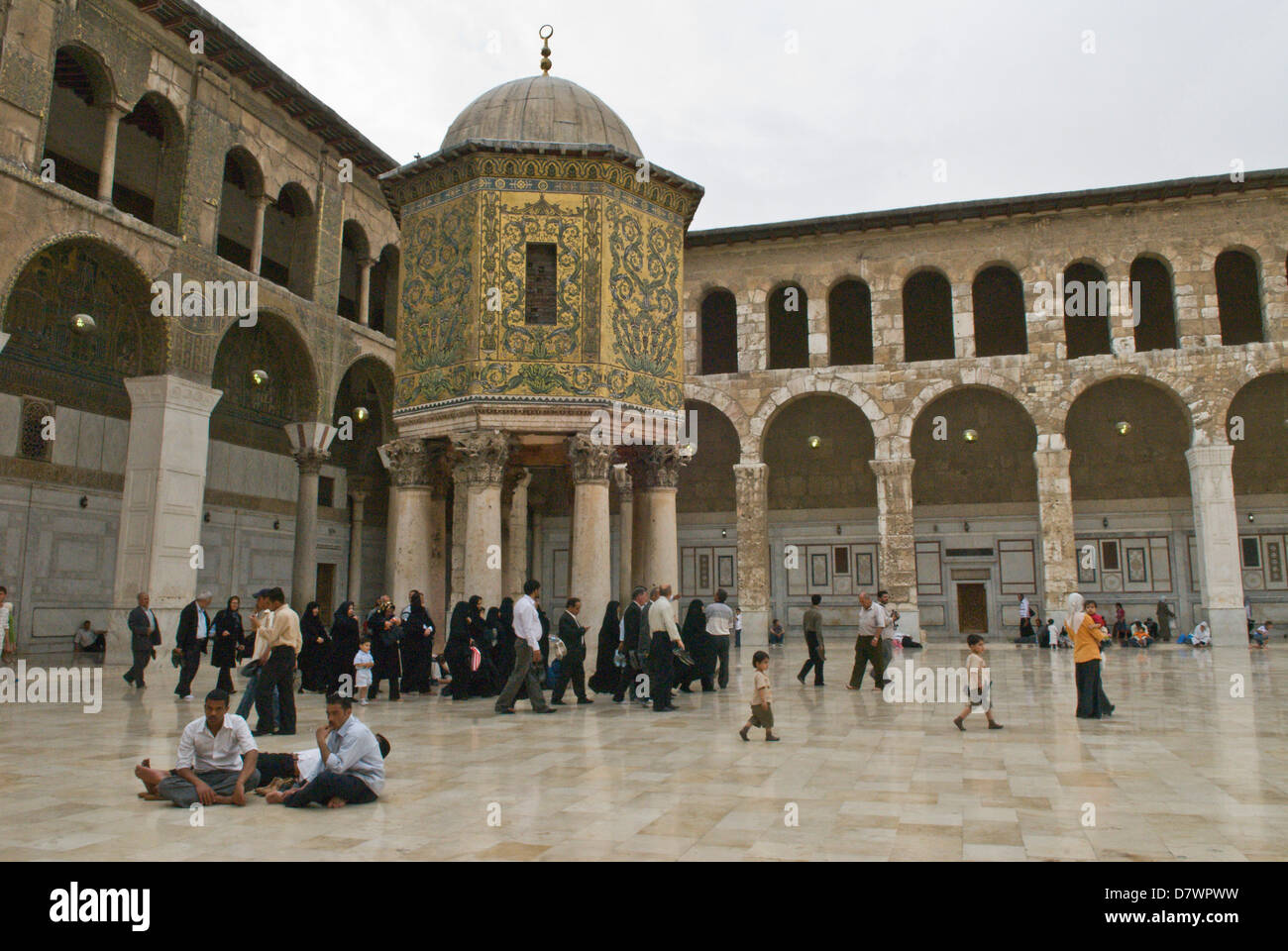 Damascus, Syria  The Great Umayyad Mosque, an 8th century