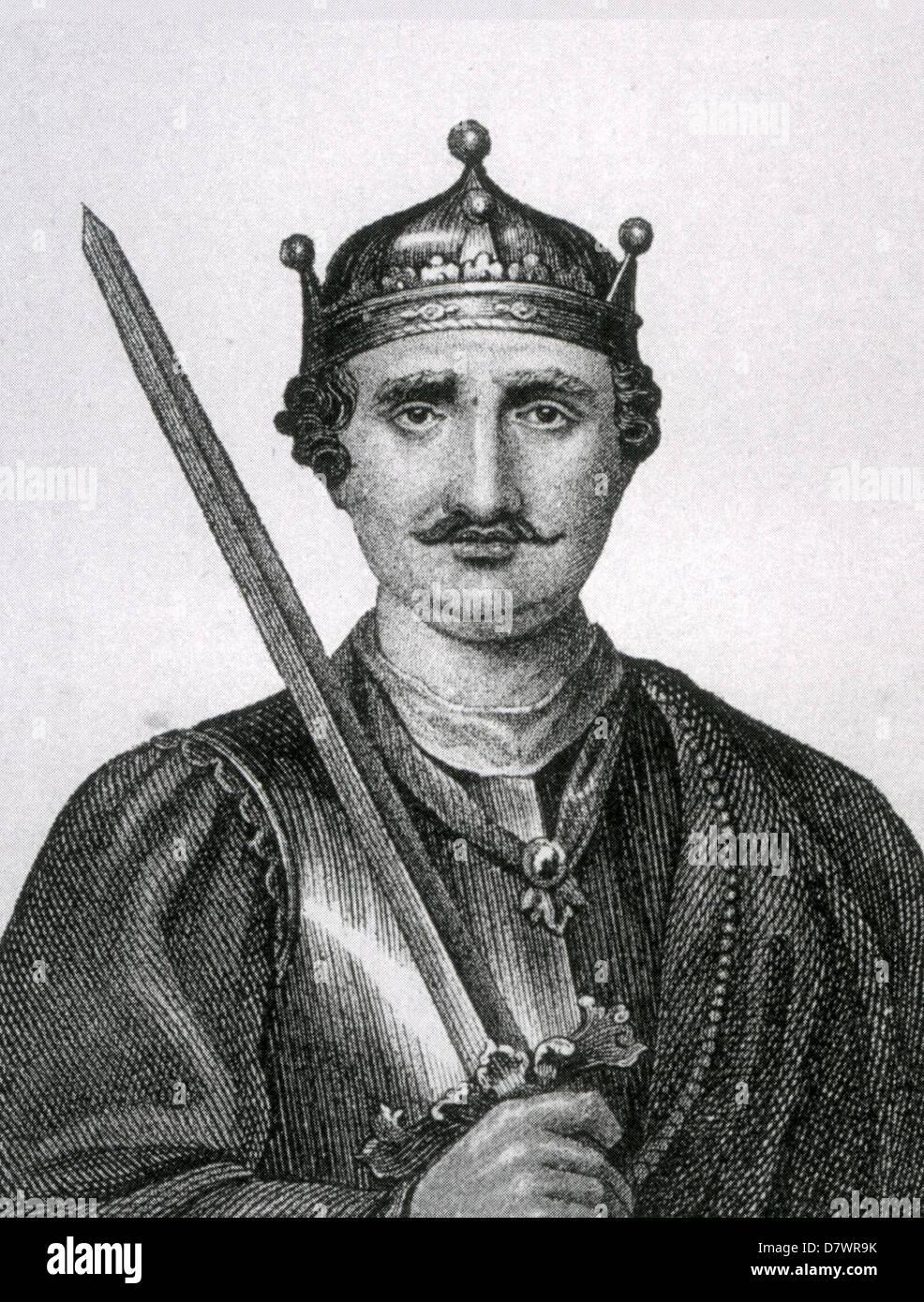 WILLIAM THE CONQUEROR (1028-1087) in a 19th century engraving - Stock Image