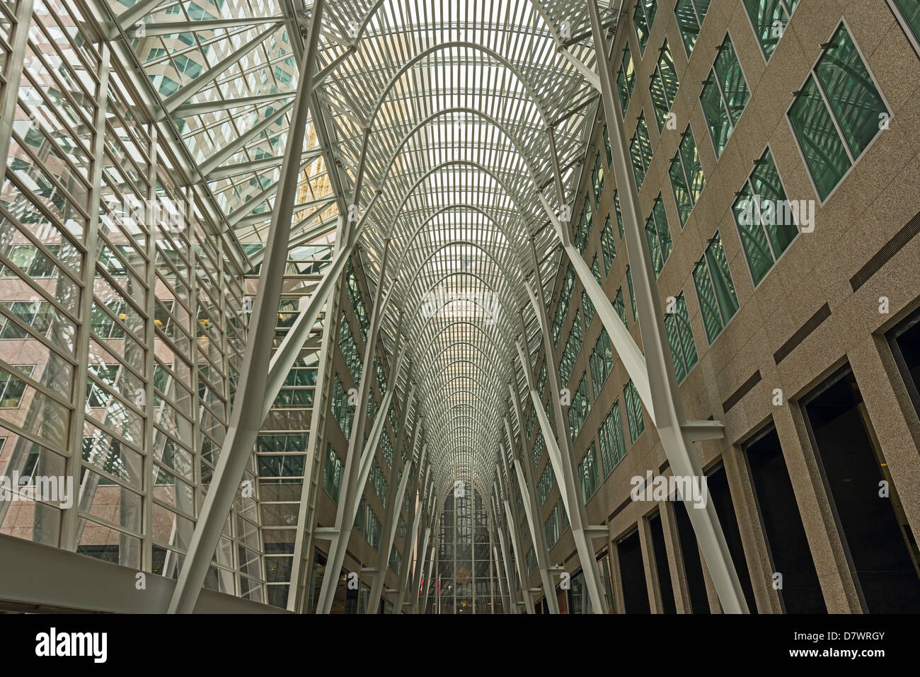 Brookfield Place (formerly BCE Place) - modern architecture in financial district, Toronto, Canada - Stock Image