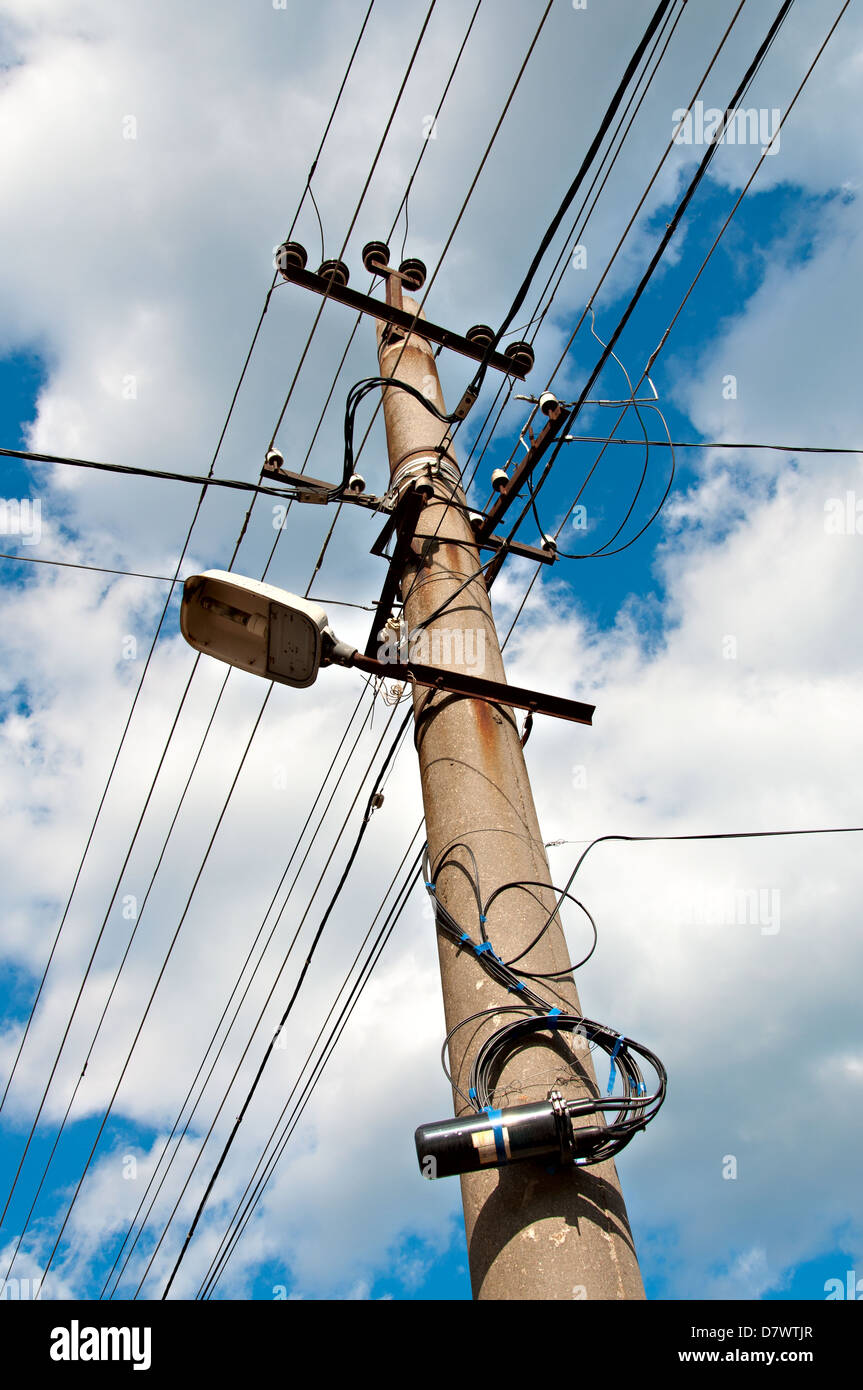 Electrical Wire Outdoor Stock Photos & Electrical Wire Outdoor Stock ...
