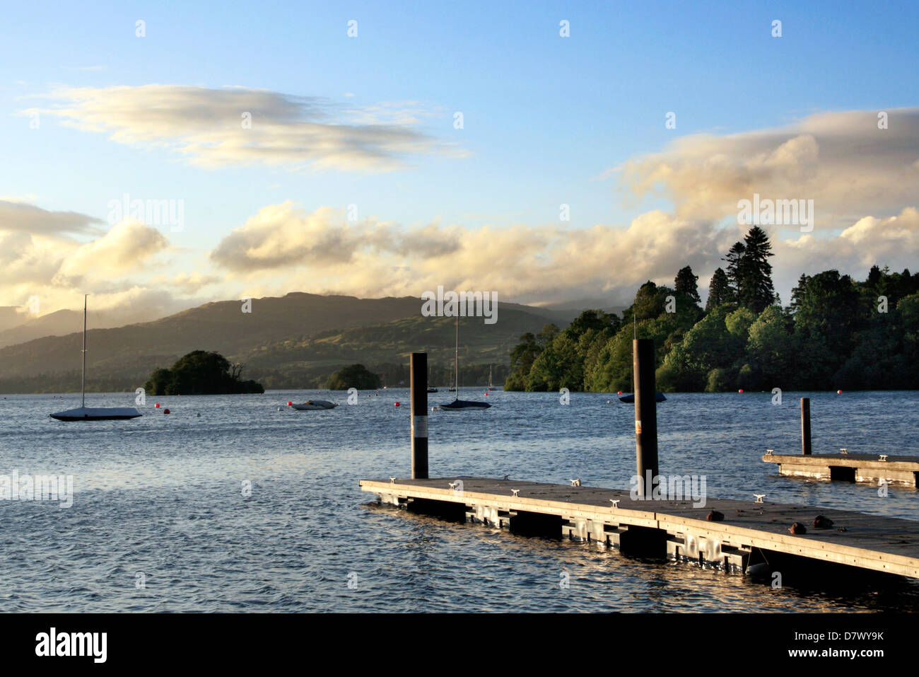 Lake Windermere at Bowness in the Lake District national park ,Cumbria. - Stock Image
