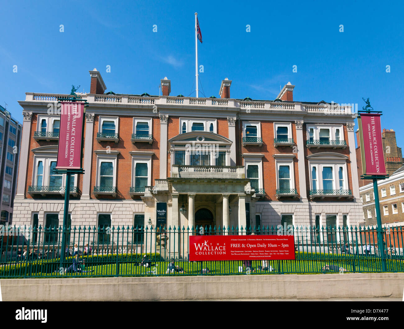 The Wallace Collection Art Gallery and Museum London - Stock Image