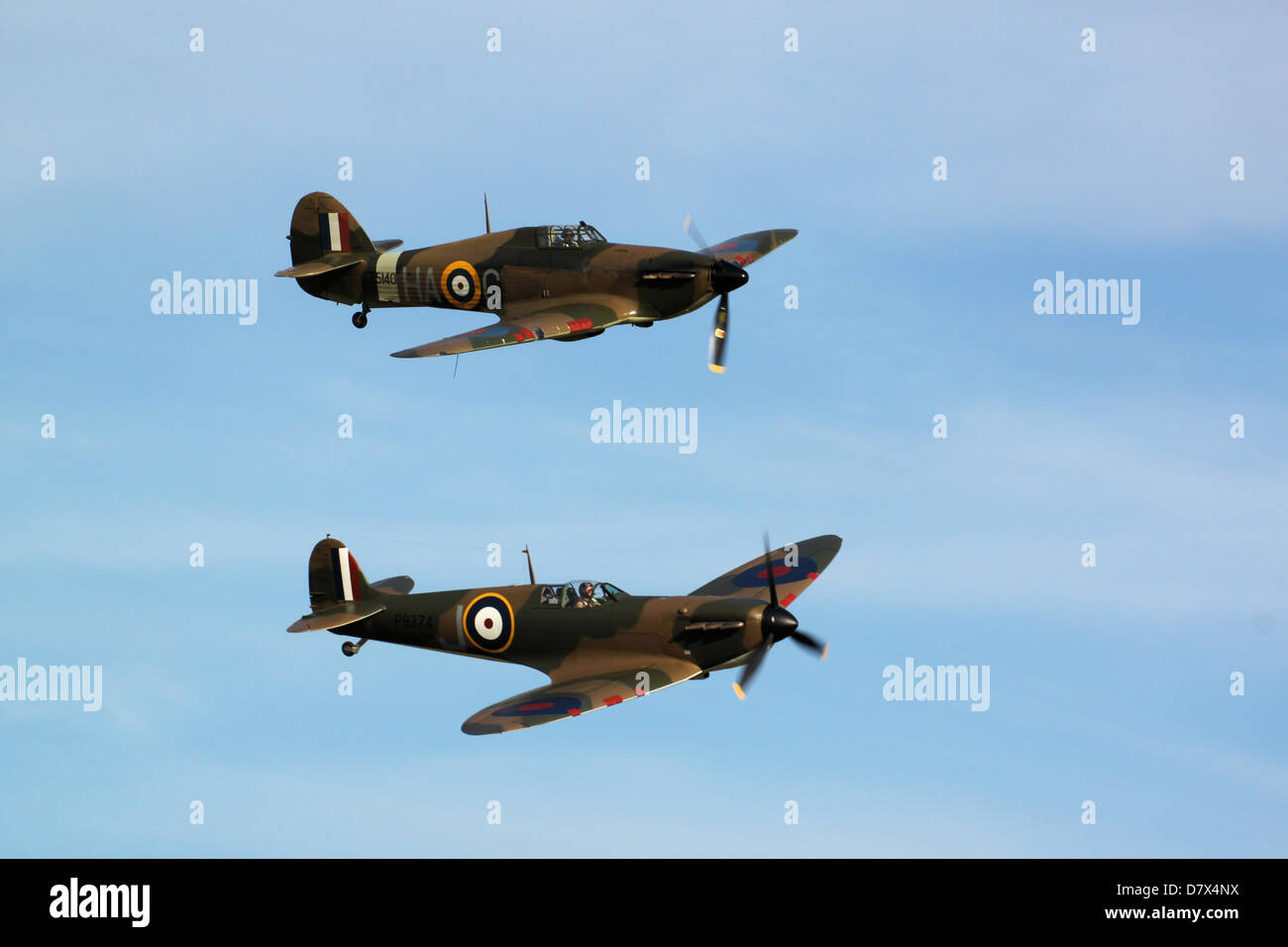 Spitfire and Hurricane - Stock Image