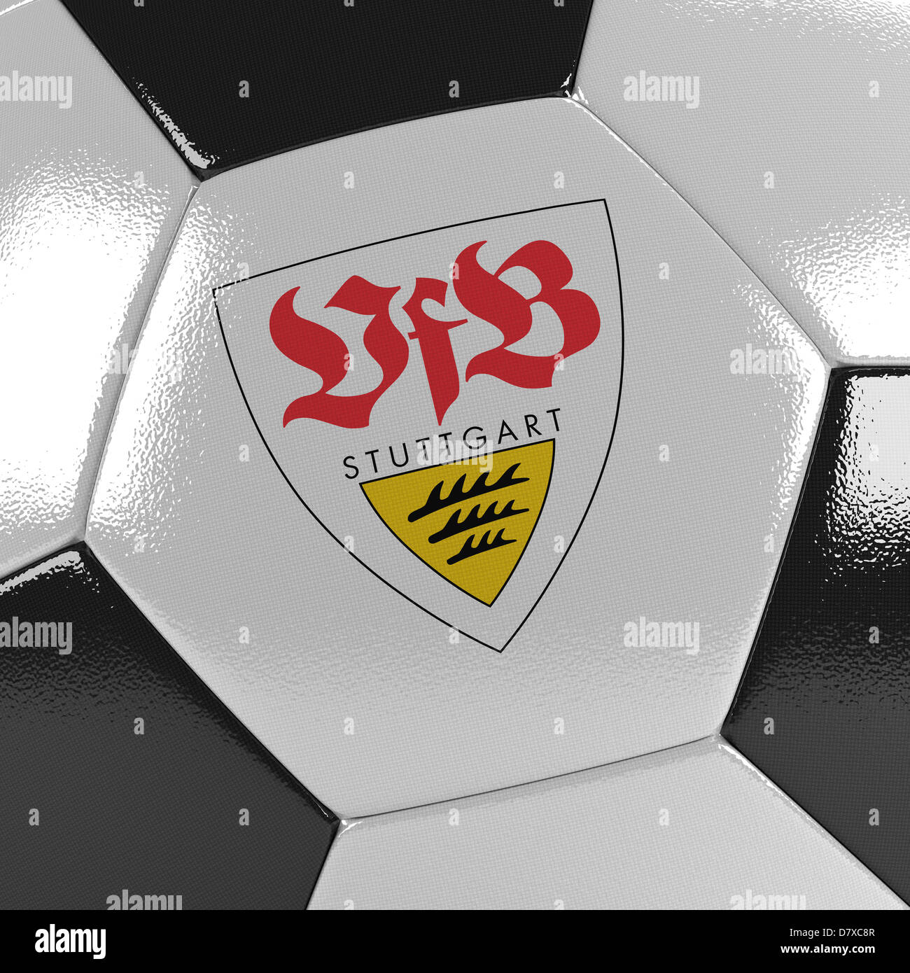 VfB Stuttgart soccer ball Stock Photo