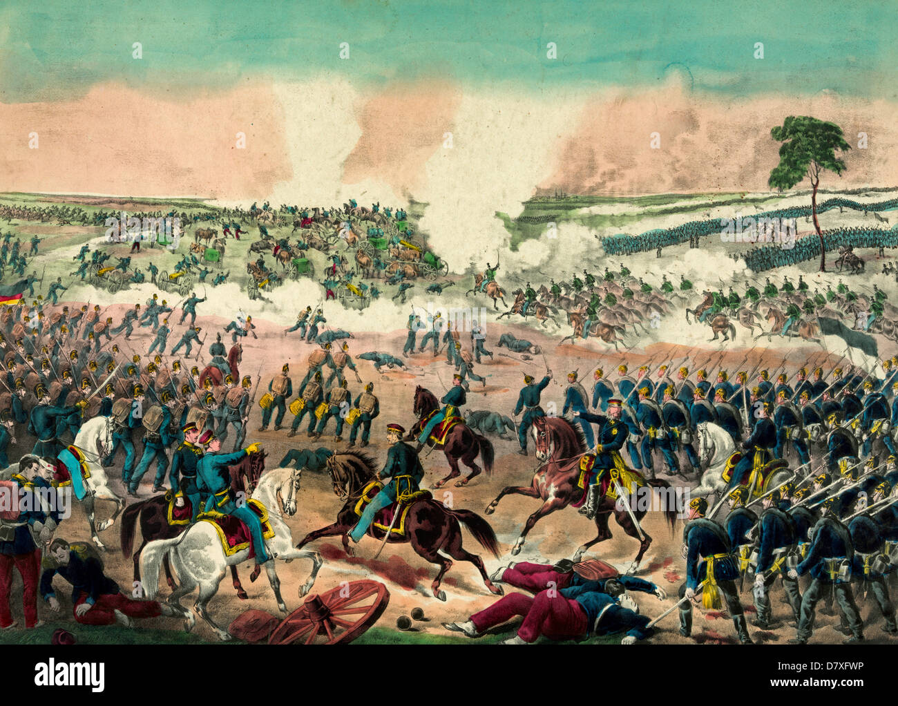 Battle of Weissenburg - 4th August 1870 during the Franco-Prussian War - Stock Image