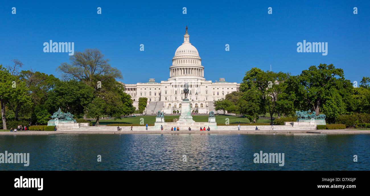 WASHINGTON, DC, USA - United States Capitol Reflecting Pool. - Stock Image