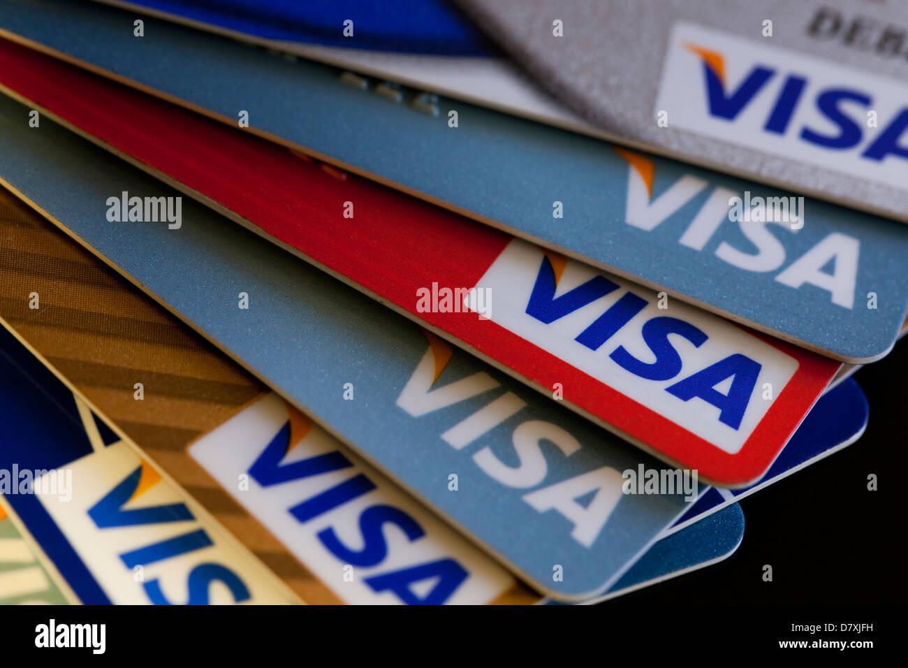 Visa credit cards - Stock Image