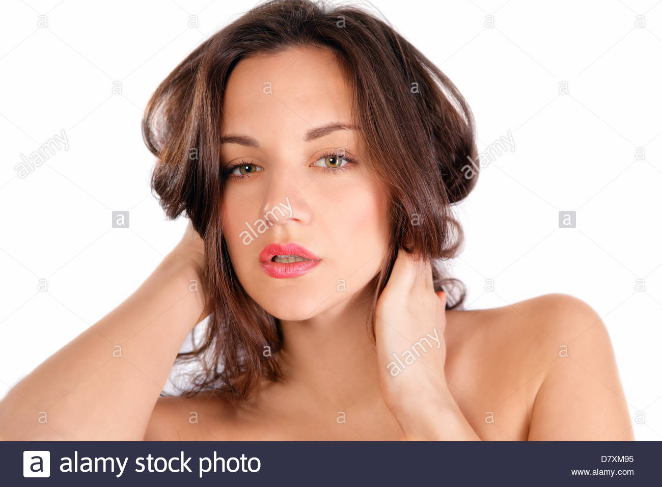 Hair care woman - Stock Image