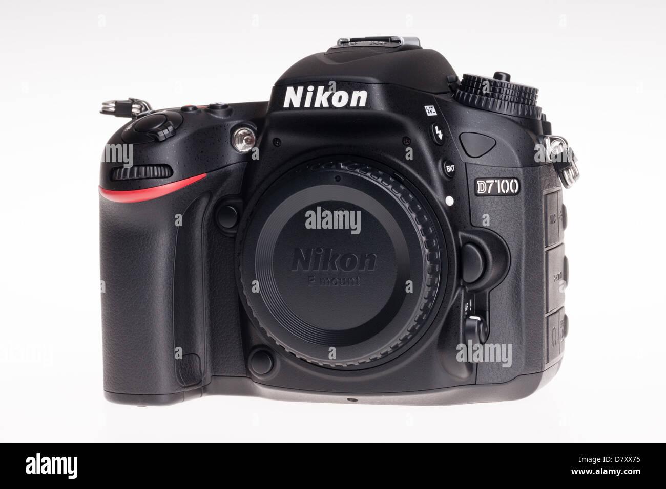 Nikon D7100 digital SLR - body. - Stock Image