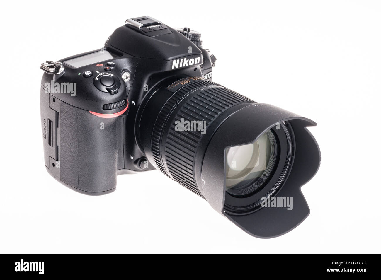 Nikon D7100 digital SLR - camera with 18-105mm lens. - Stock Image